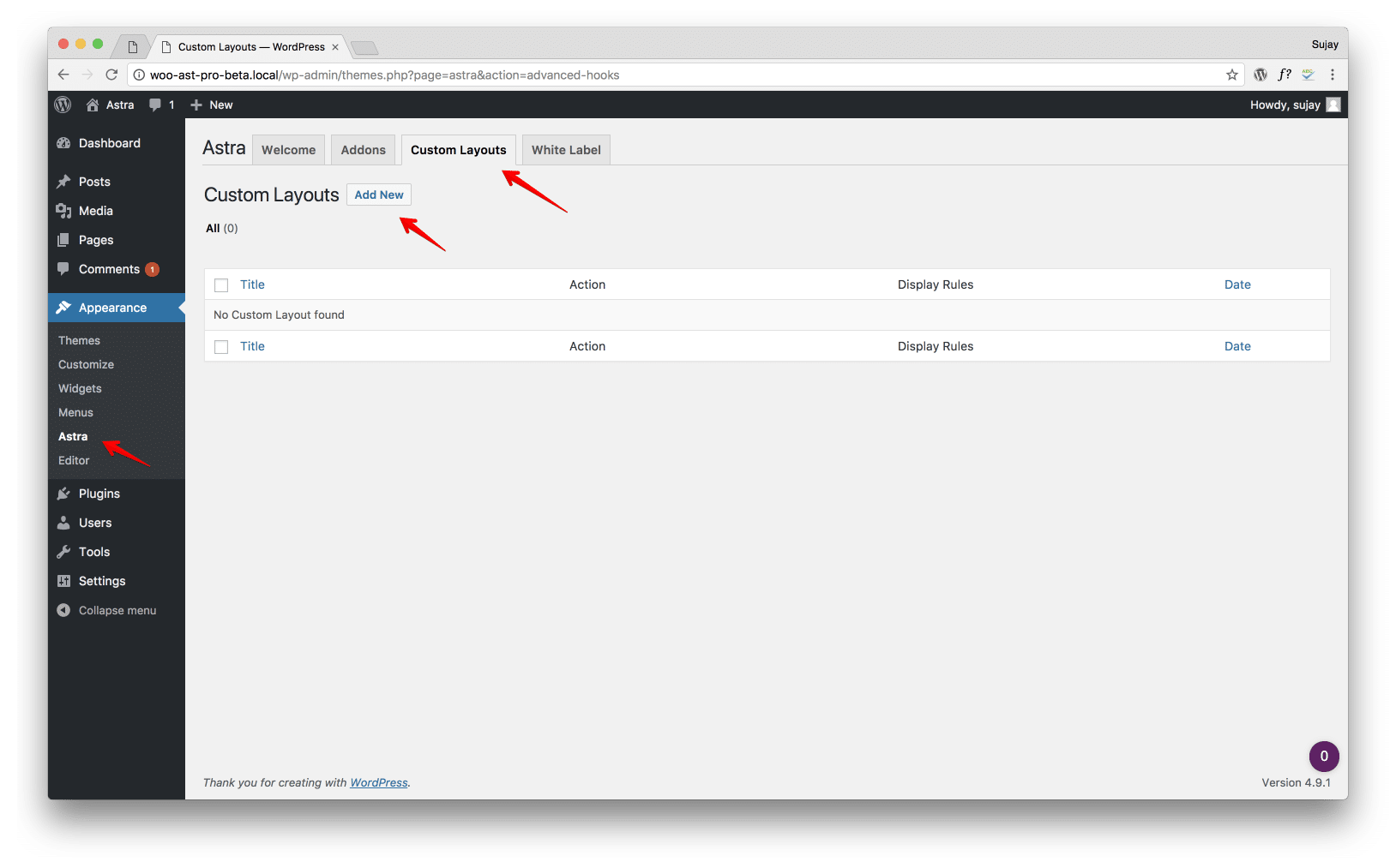 How to add custom JavaScript code in Astra? | Astra