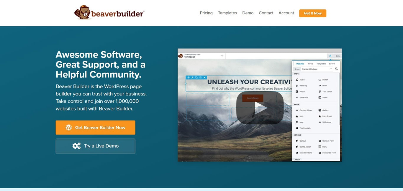 Beaver builder site image