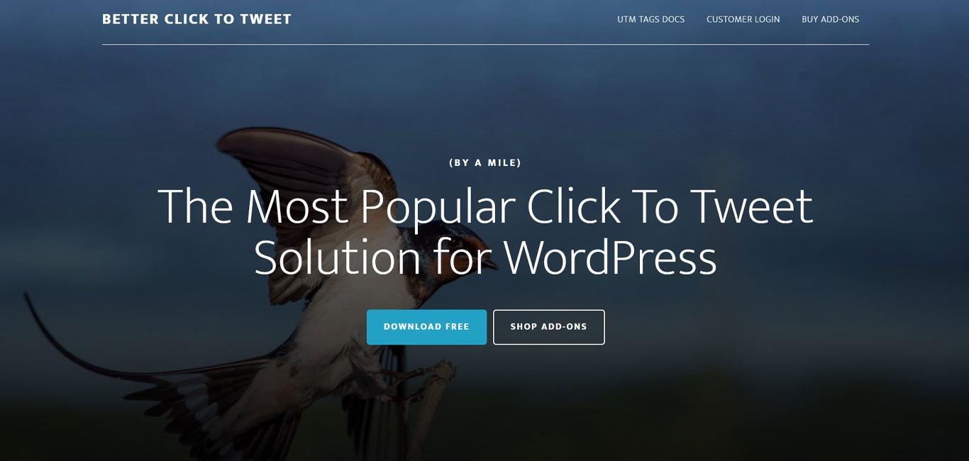 Better click to tweet plugin image