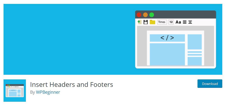 Insert header & footer plugin image