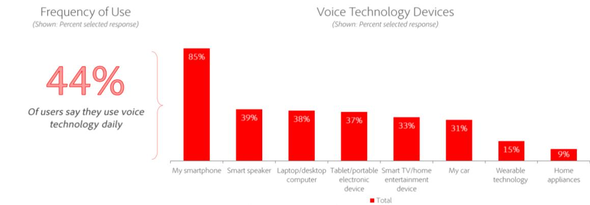 Voice search on devices