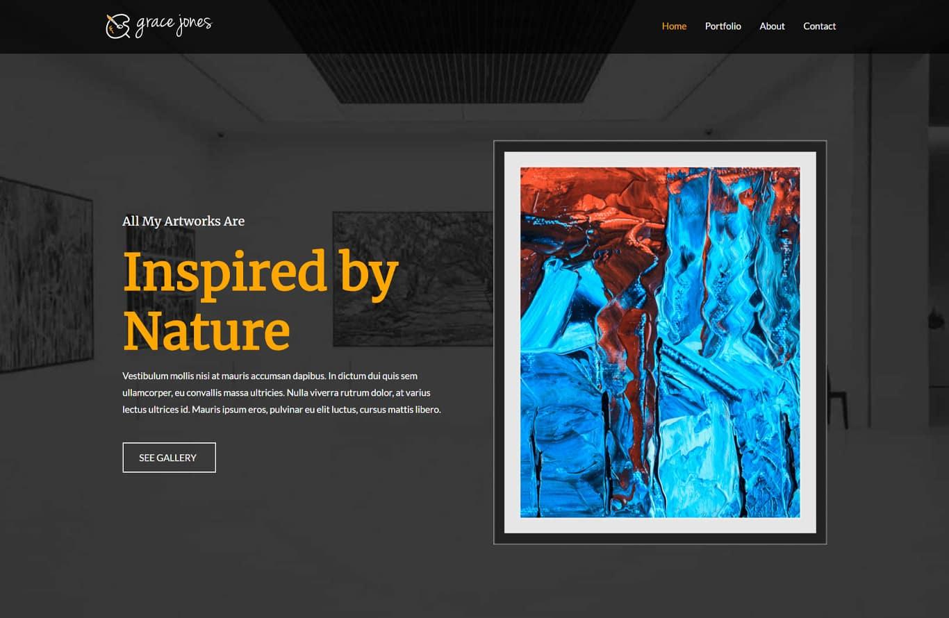 Artist elementor site
