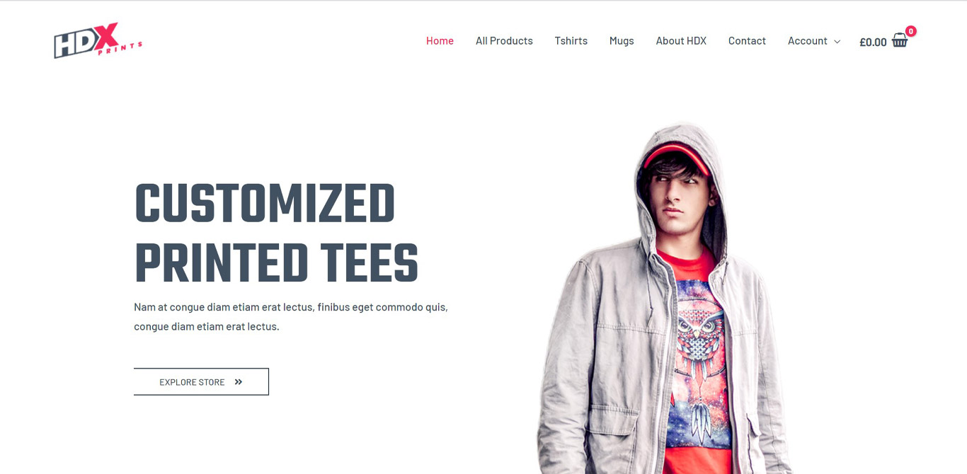 Custom Printing elementor site