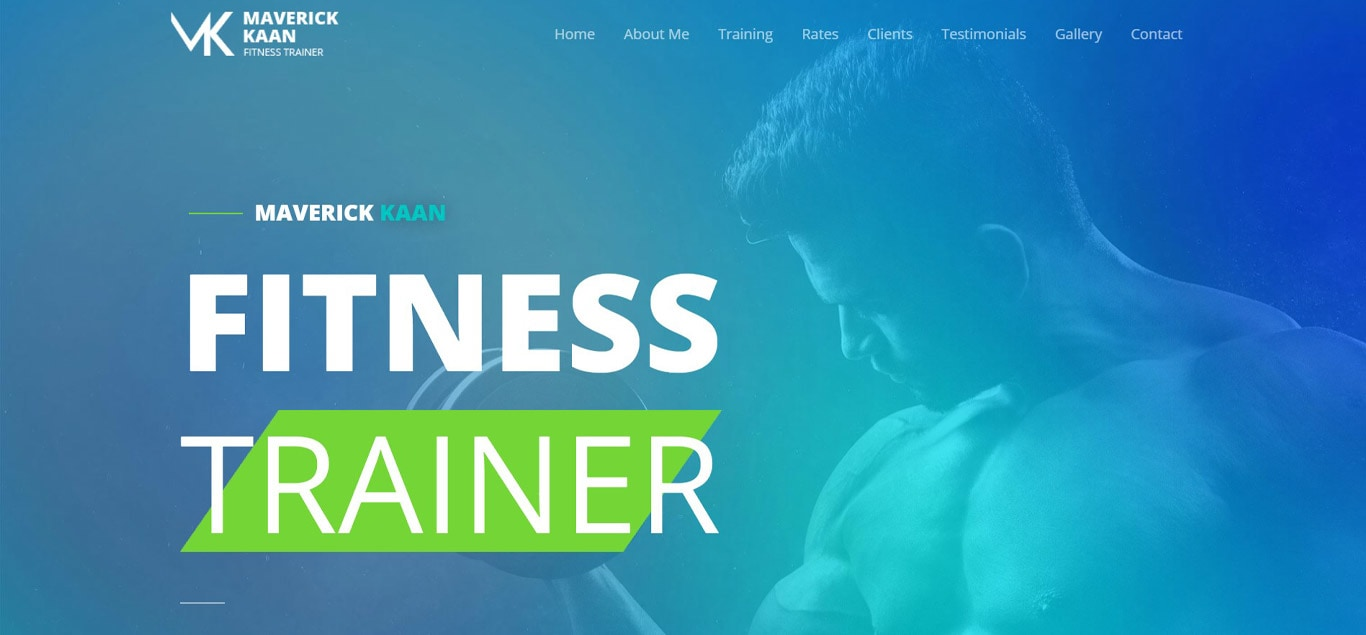 Fitness trainer elementor site