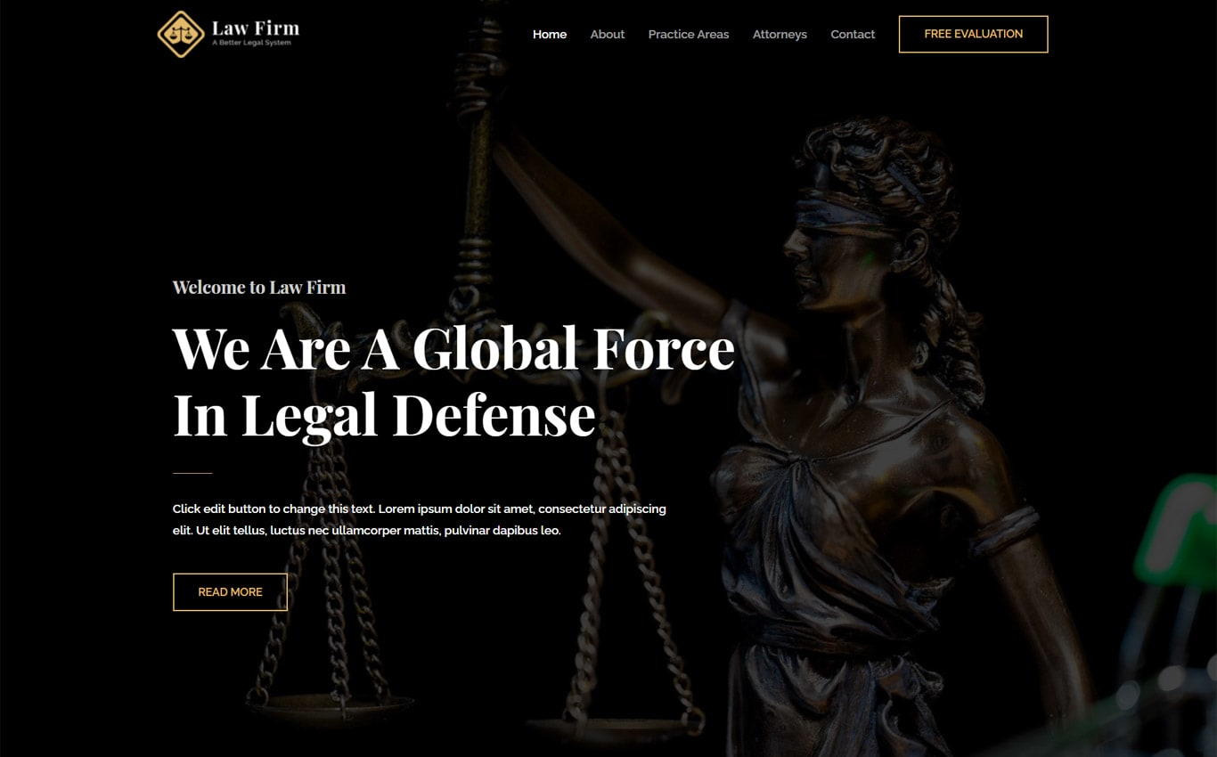 Law firm  elementor site