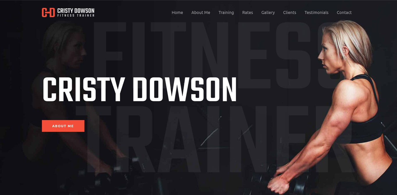 Personal fitness trainer elementor site