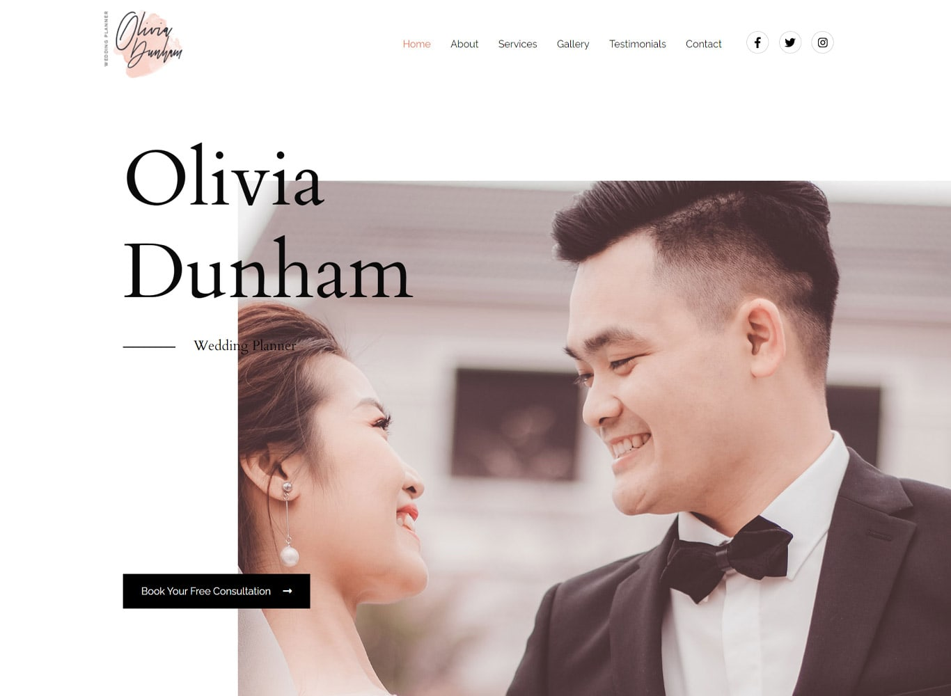 Wedding organizer elementor site