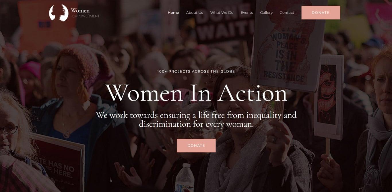 Women empowerment elementor site