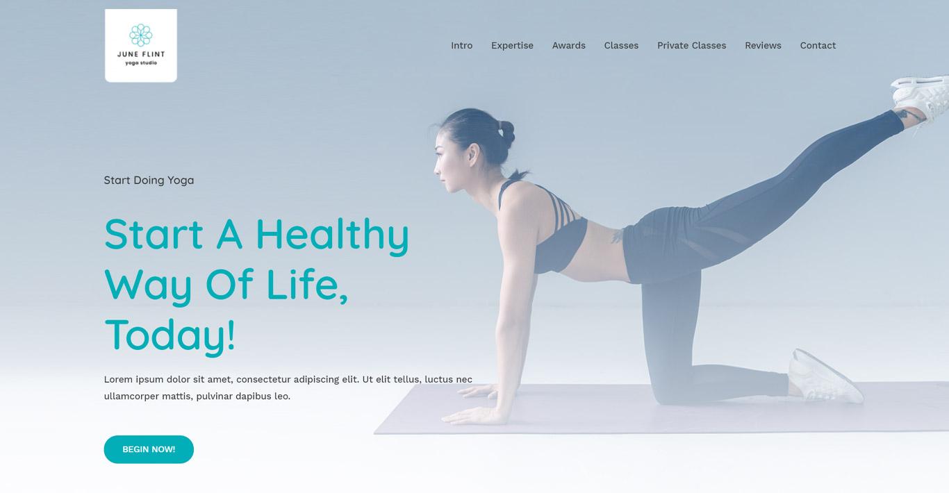Yoga studio elementor site