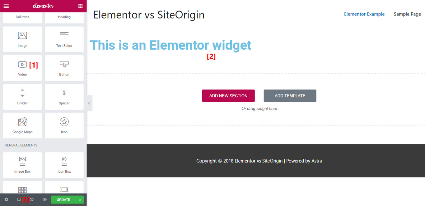 Elementor interface image