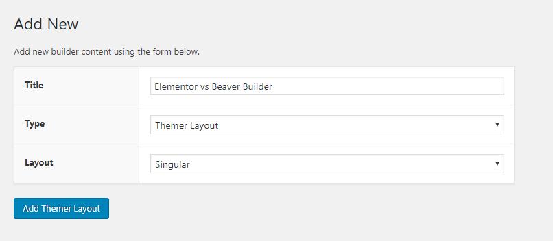 beaver themer interface