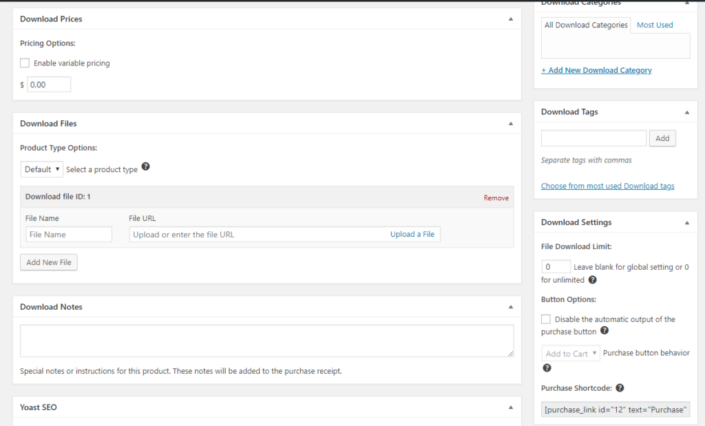 Easy Digital Downloads vs WooCommerce interface