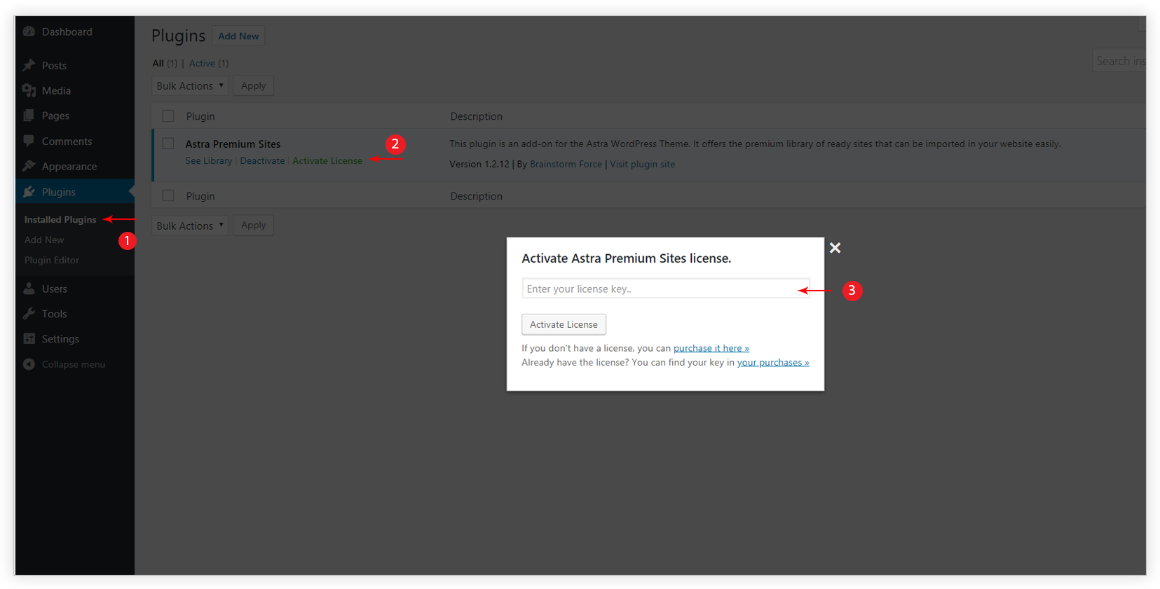 How to Activate the License for Astra Premium Sites Plugin? | Astra