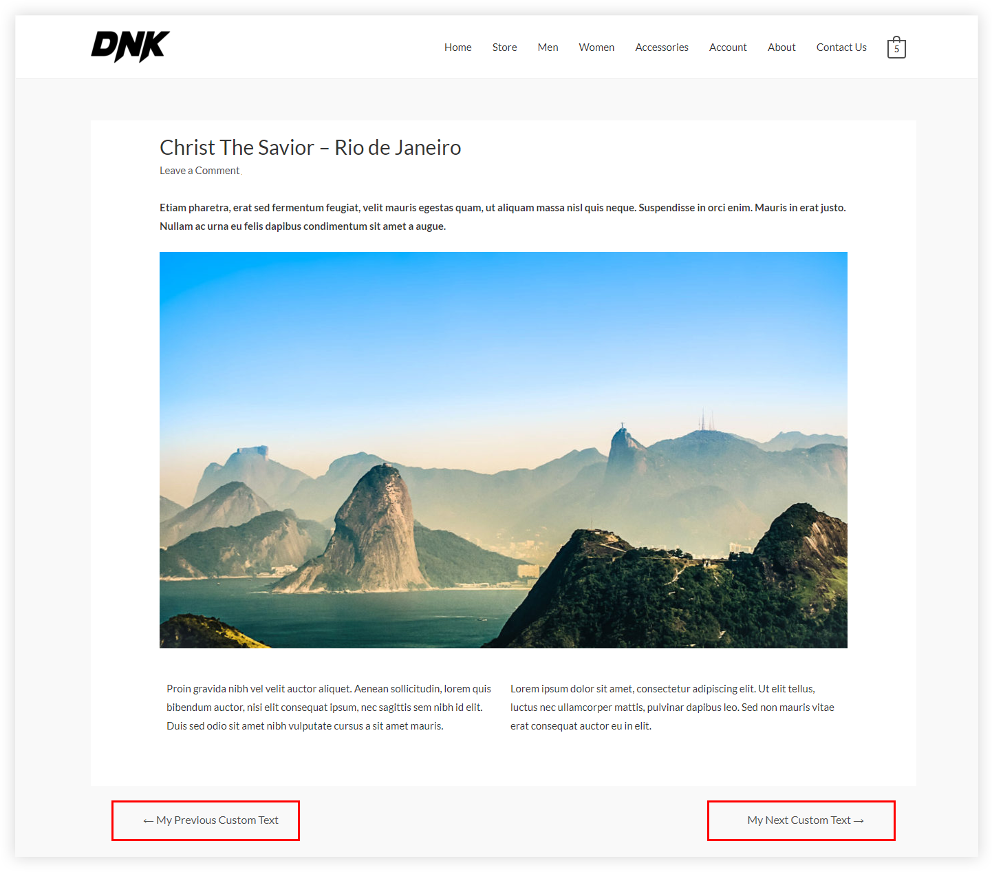 How to Change Previous and Next Link Text from a Single Blog Post
