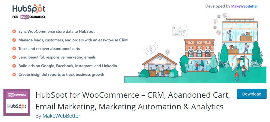 HubSpot for WooCommerce WordPress plugin