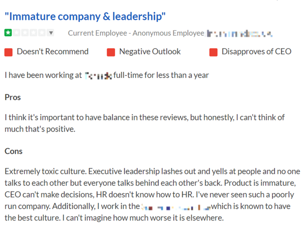 Check client reviews on platforms like Glassdoor, etc.