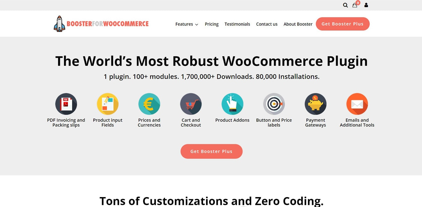 Booster for woocommerce plugin site image