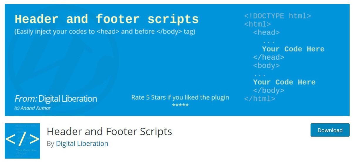 Header & footer plugin image