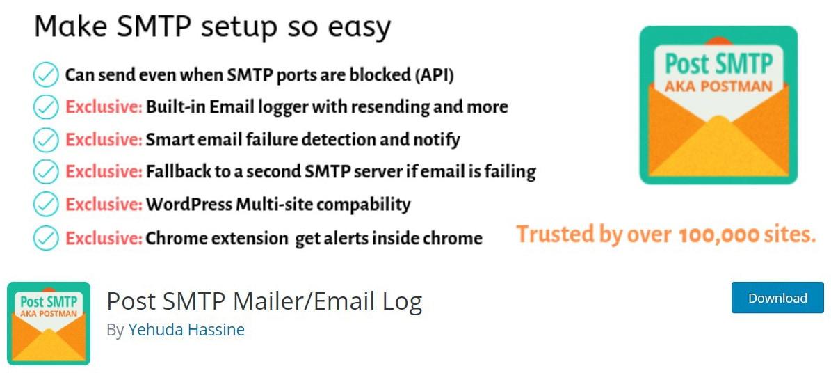 Post SMTP mailer plugin image