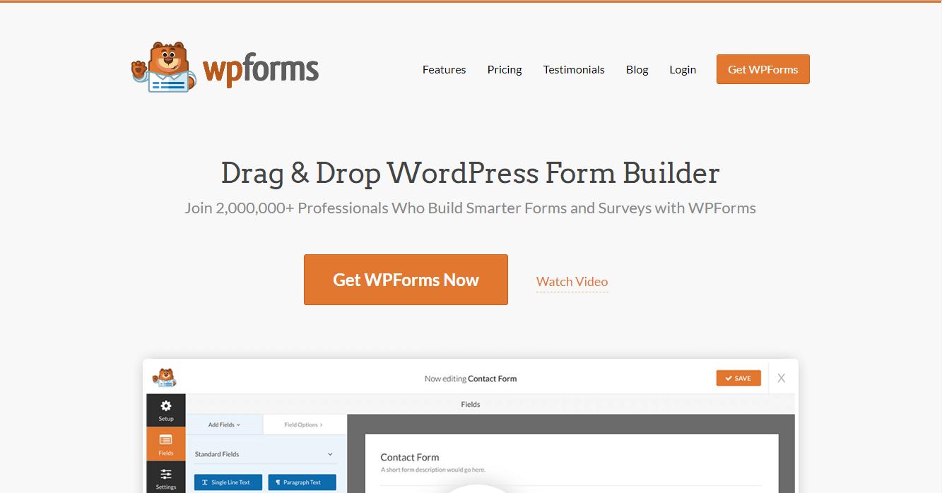 WPForms plugin site image