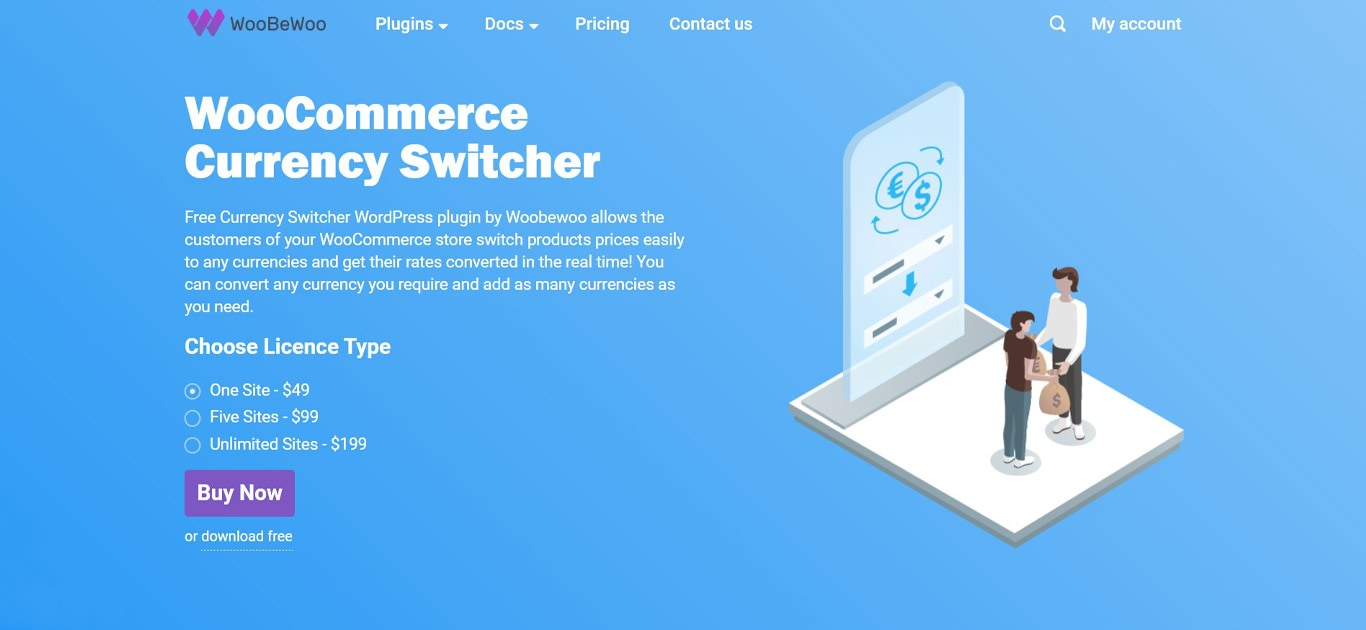 WooCommerce currency switcher plugin