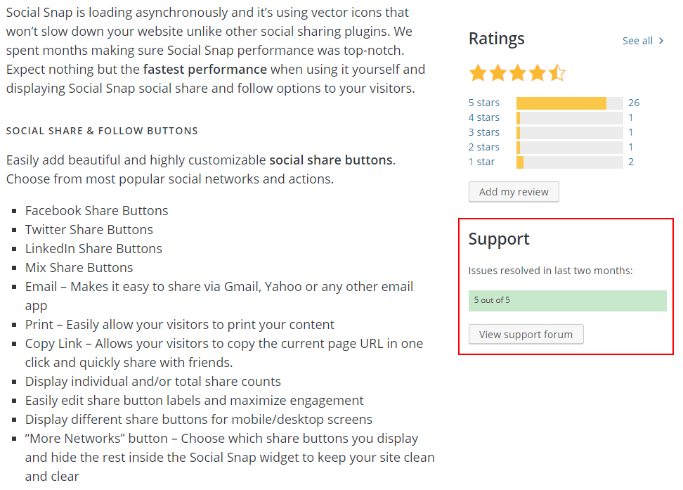 Check Support Reviews for Plugin