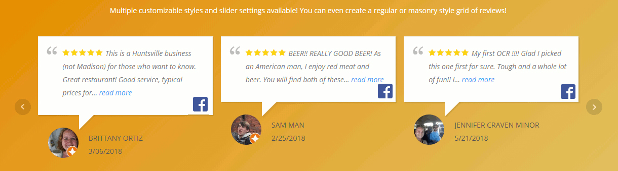 Review Slider Example