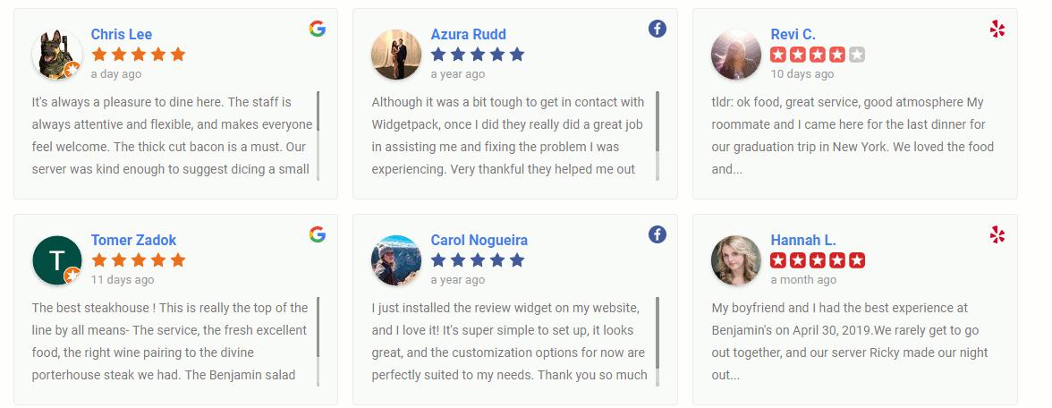 WP Reviews Grid Display
