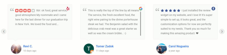 WP Reviews Grid Slider