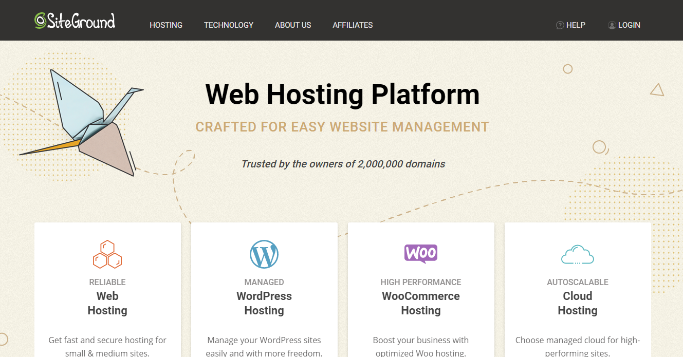 SiteGround - WooCommerce Hosting Provider