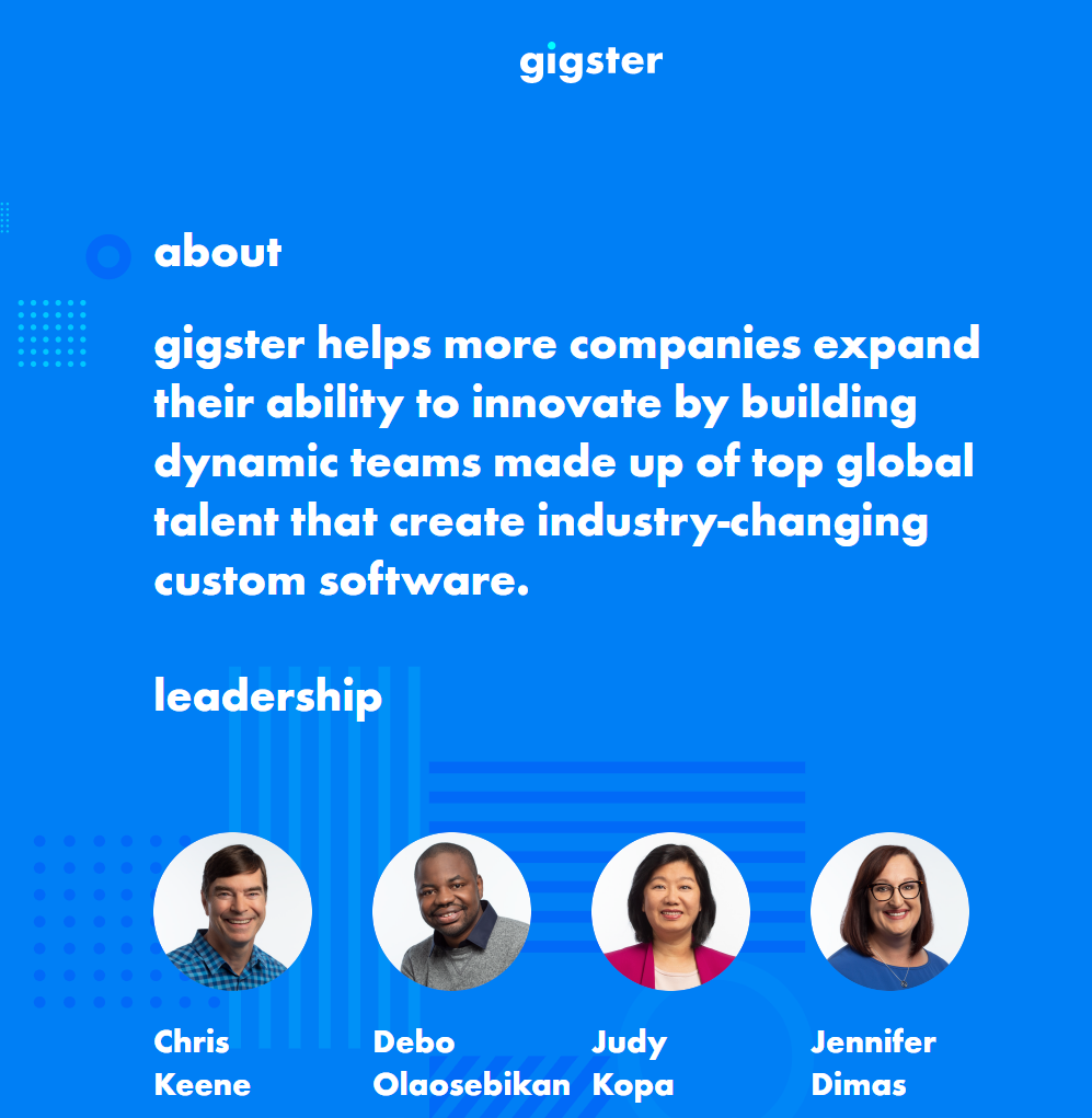 Website of Gigster