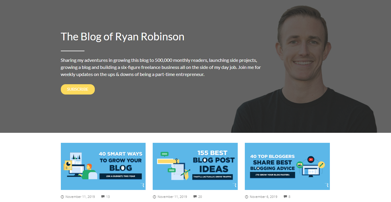 Blog page of Ryan Robinson