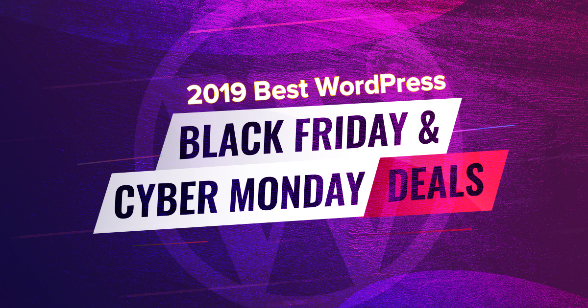 2020 Wordpress Black Friday Cyber Monday Deals Hand Picked