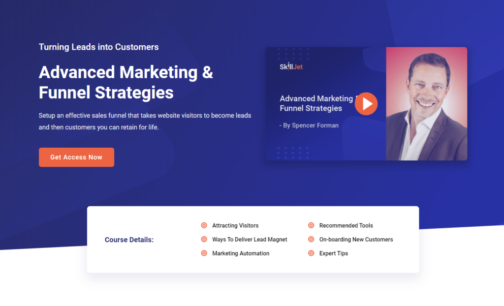 Advanced Marketing & Funnel Strategies by Spencer Forman in SkillJet
