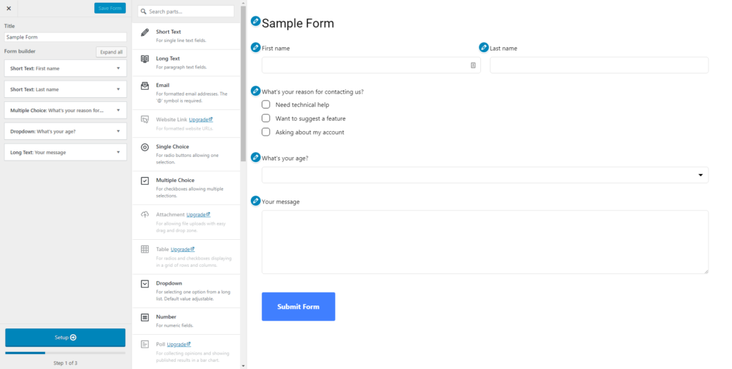 Happy Forms Preview