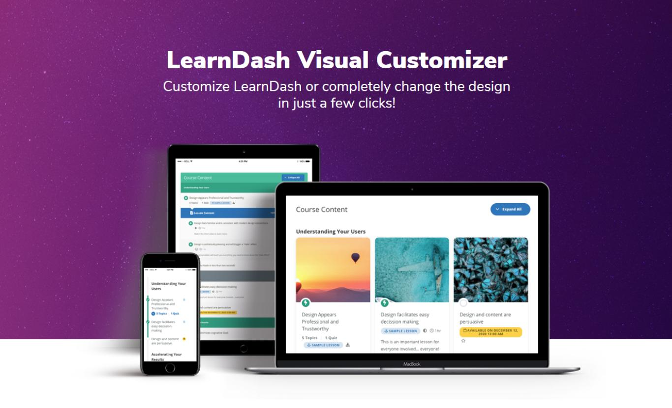 LearnDash Visual Customizer.
