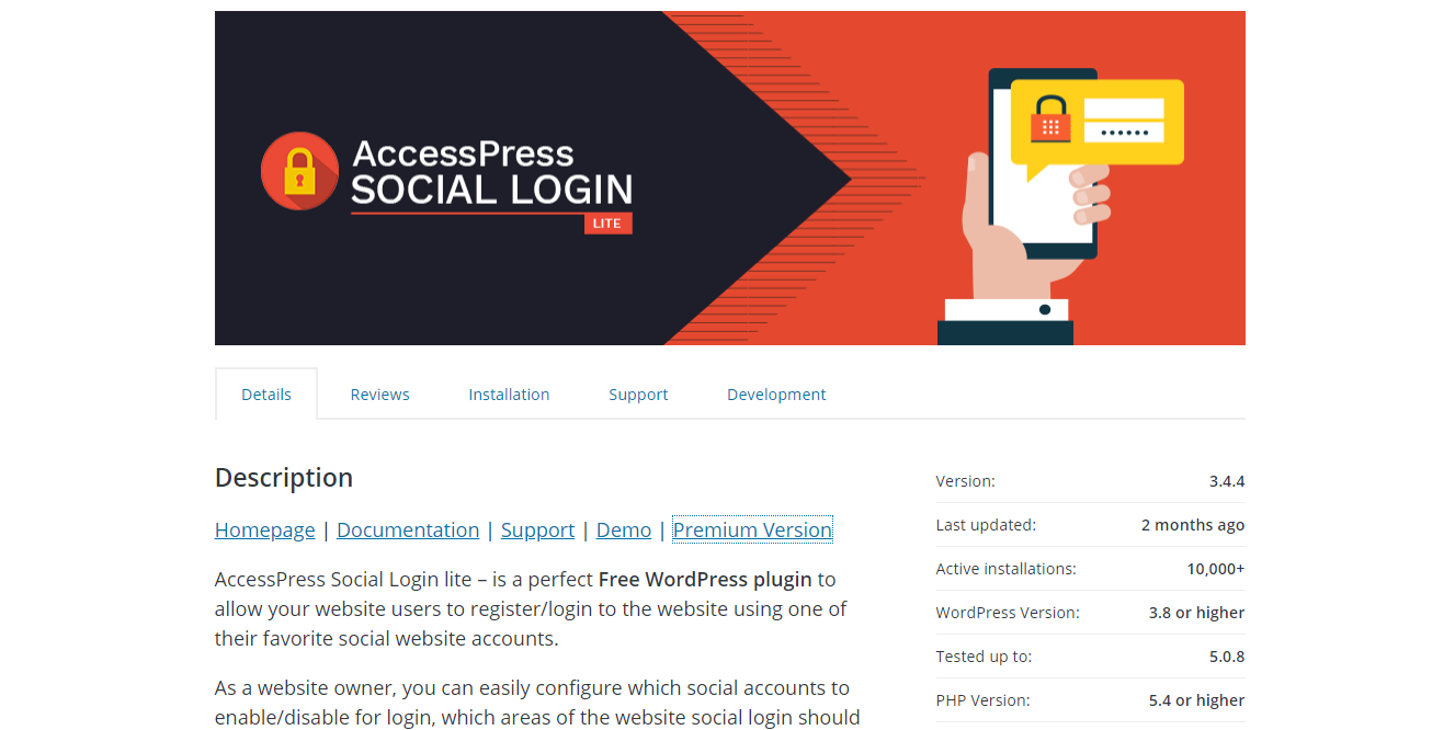 Social Media Plugins - AccessPress Social Login