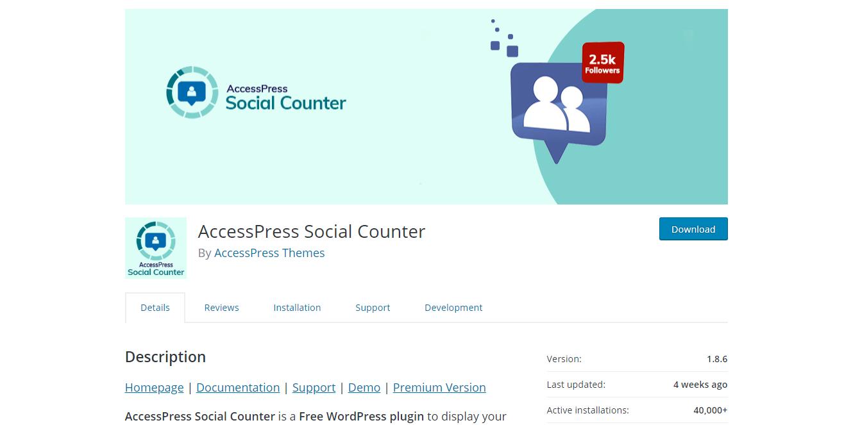 Social Media Plugins -AccessPress Social Counter