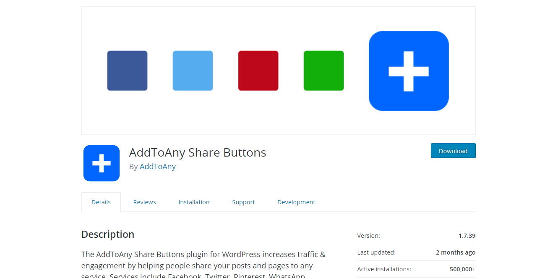 Social Media Plugins -AddToAny