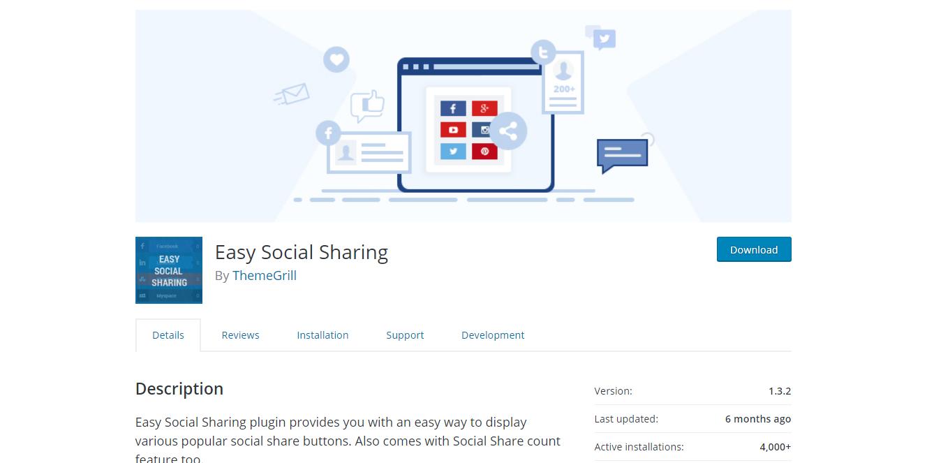 Social Media Plugins - Easy Social Sharing