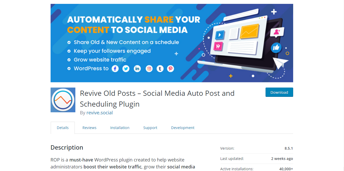 Social Media Plugins - Revive Old Posts