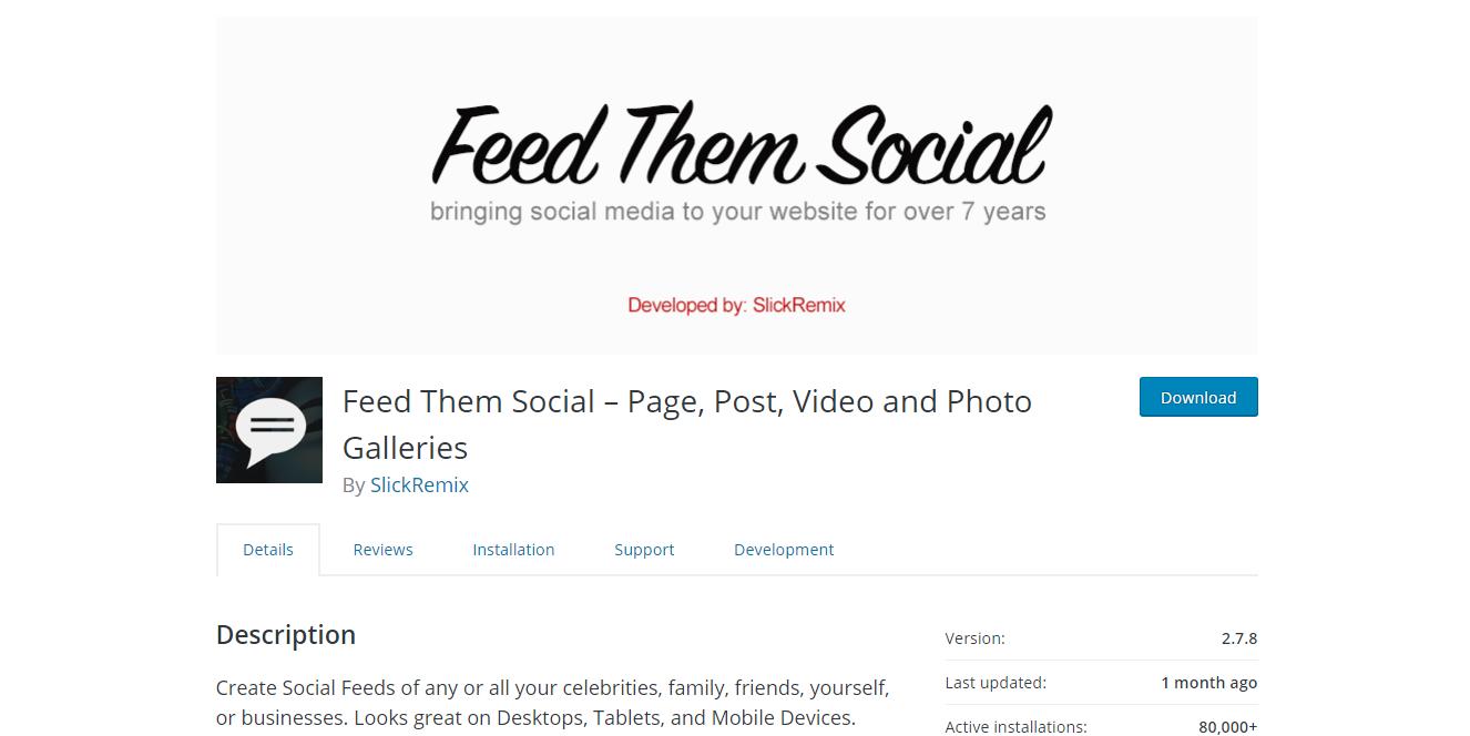 Social Media Plugins - Feed Them Social