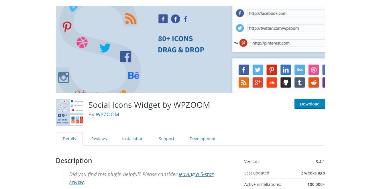 Social Media Plugins -Widget by WPZOOM