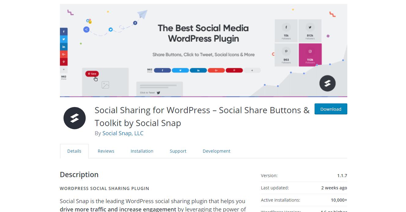 Social Media Plugins - Social Snap