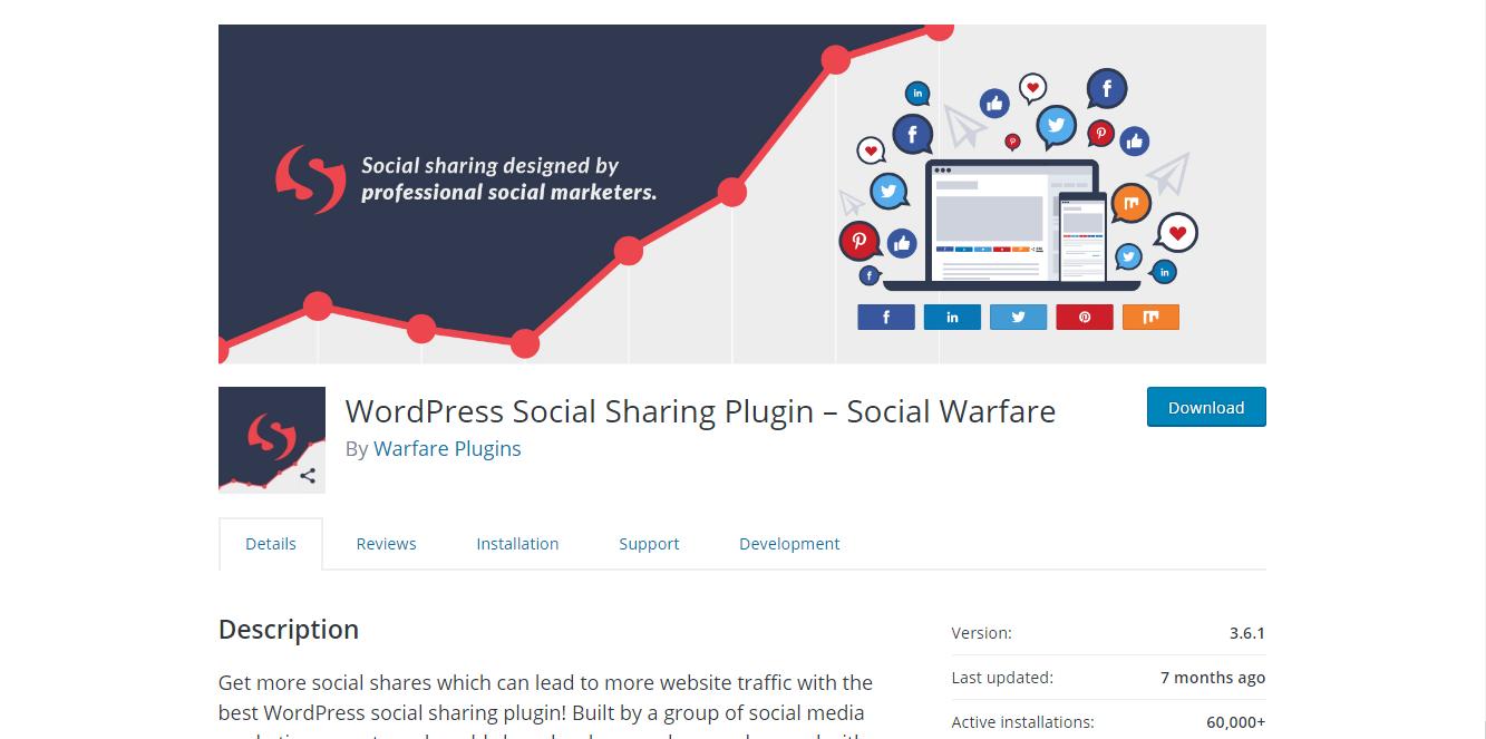Social Media Plugins - Social Warfare