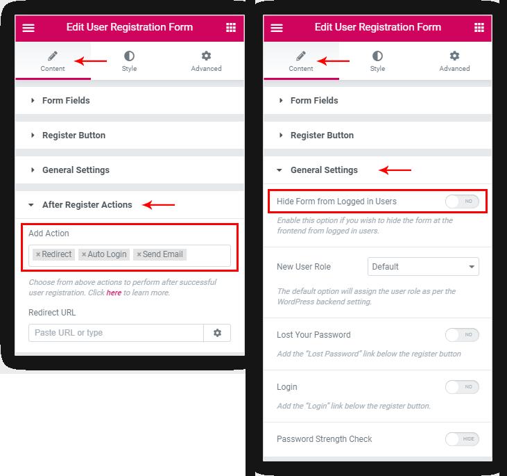 Ultimate Addons for Elementor - User Registration Form Widget