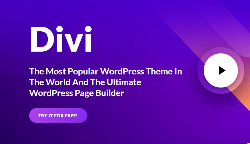 Divi Page builder banner