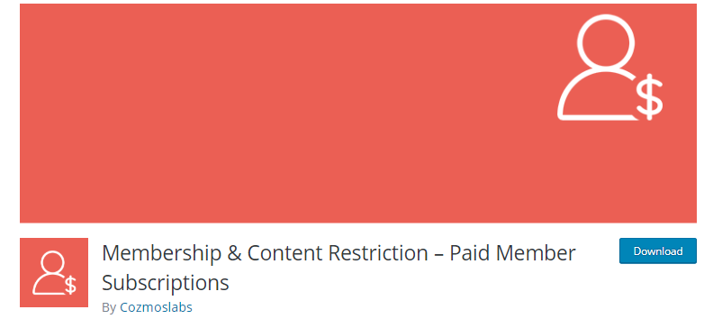 Paid Member subscriptions plugin download page