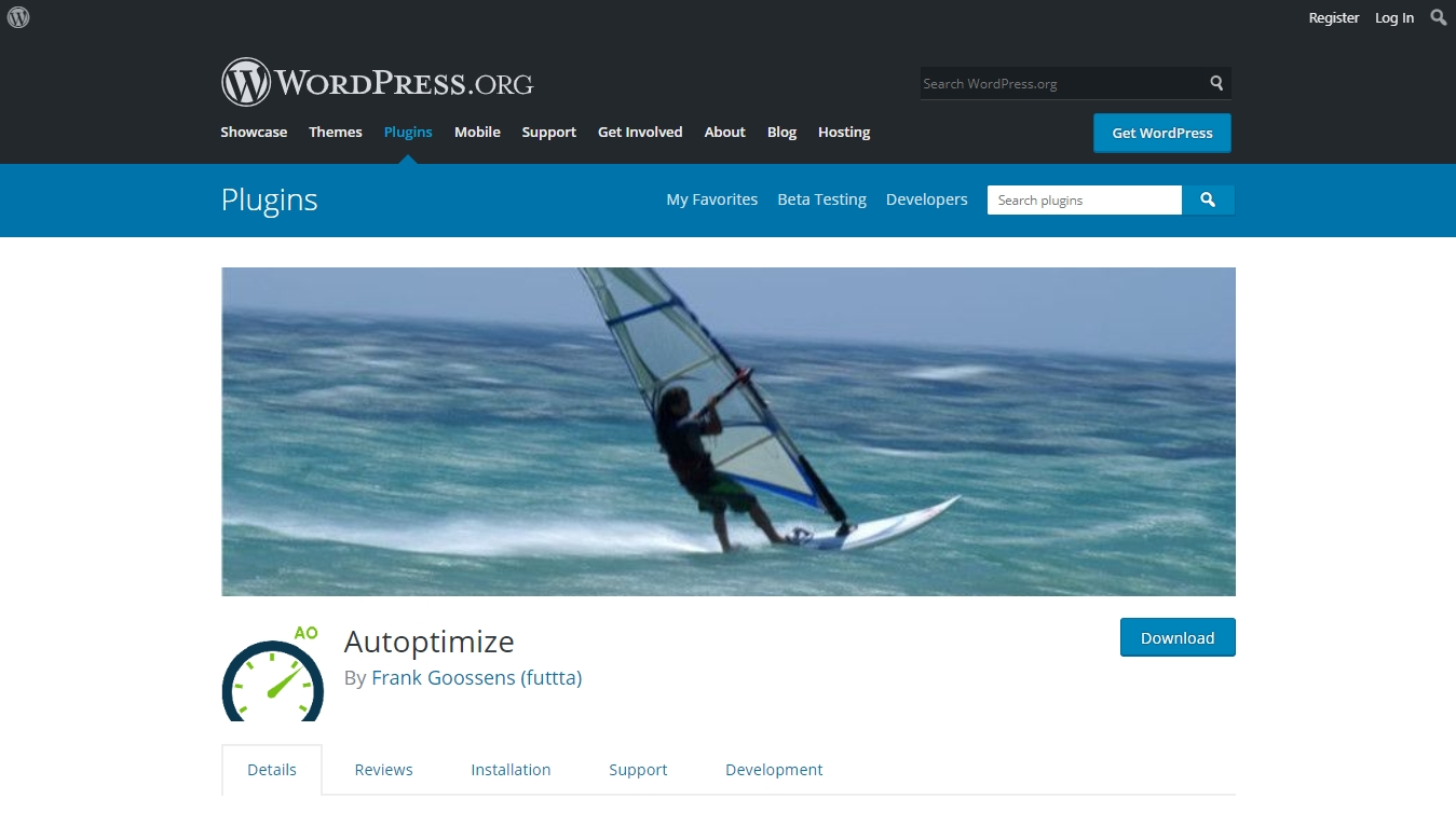 Autoptimize download page