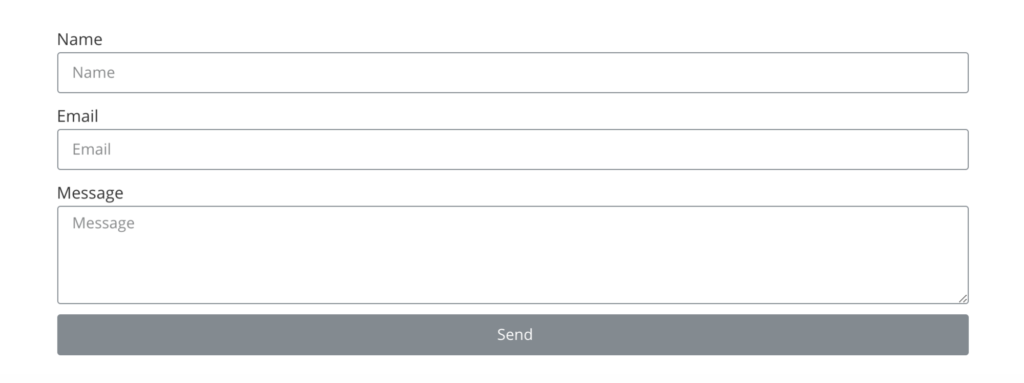 basic contact form widget sample for elementor